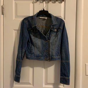 DKNY Denim Cropped Jacket
